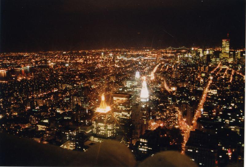 Wenn es Nacht wird in New York .........