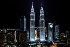 Wenn es Nacht wird...in Kuala Lumpur