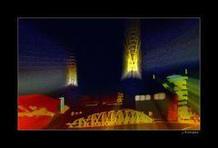- wenn es nachts in der Speicherstadt leuchtet -