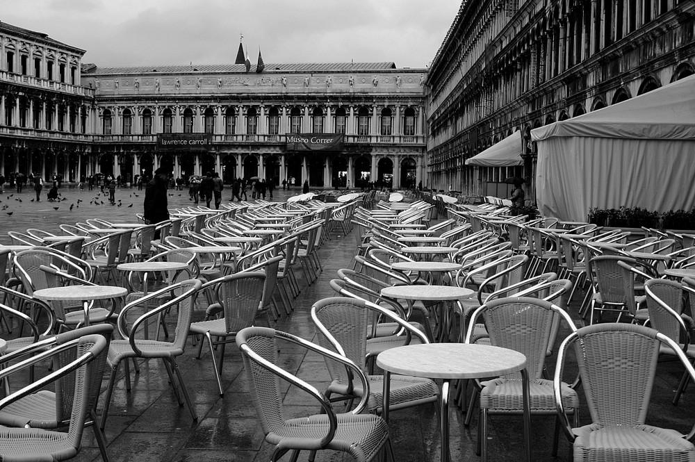 Wenn es regnet in Venedig...