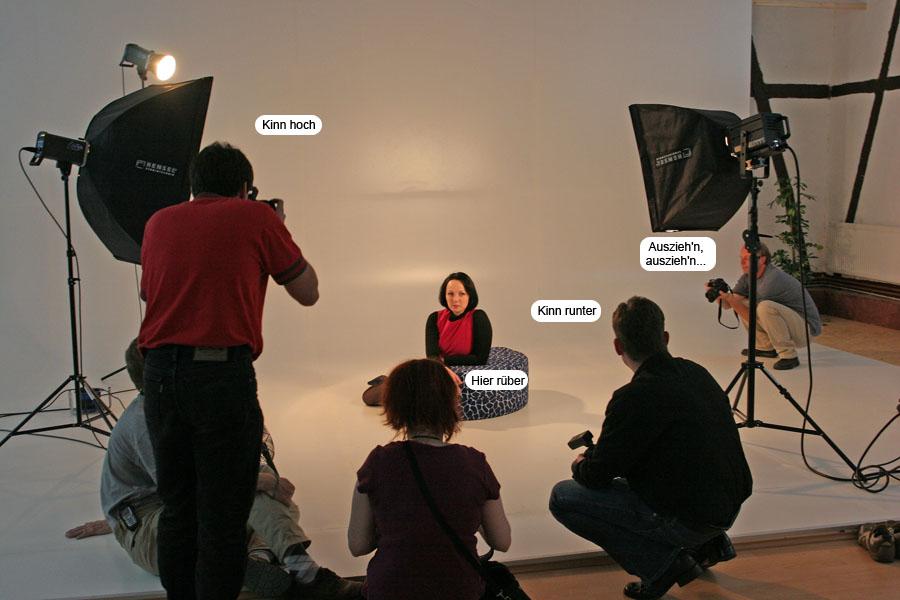 Wenn Fotografen Studiotechnik probieren...