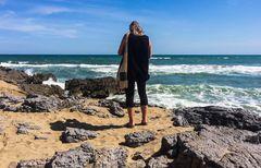 Wenn Sie näher treten, können Sie mehr Meer sehen