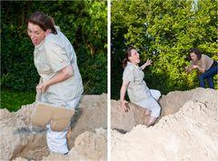 Wer anderen eine Grube gräbt,fällt selbst hinein