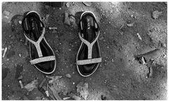 Wer hat diese schönen Schuhe in Hannover stehen lassen?