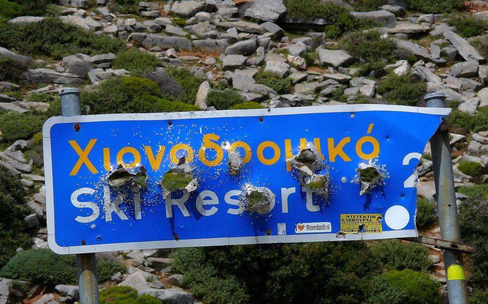 Wer hier Ski fährt wird erschossen :-))