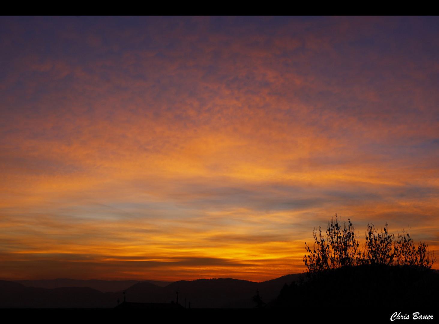 Wer immer am Horizont lebt, kennt keinen Sonnenuntergang.