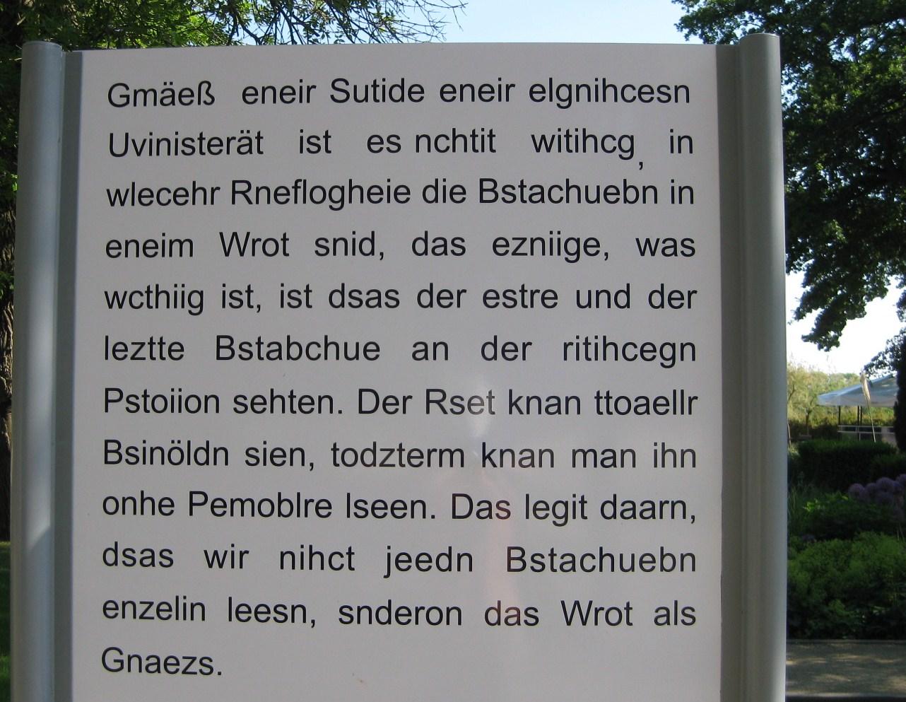 Wer kann das lesen?