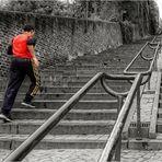 Wer Rolltreppe fahren kann, sollte das Treppensteigen dennoch nicht verlernen!