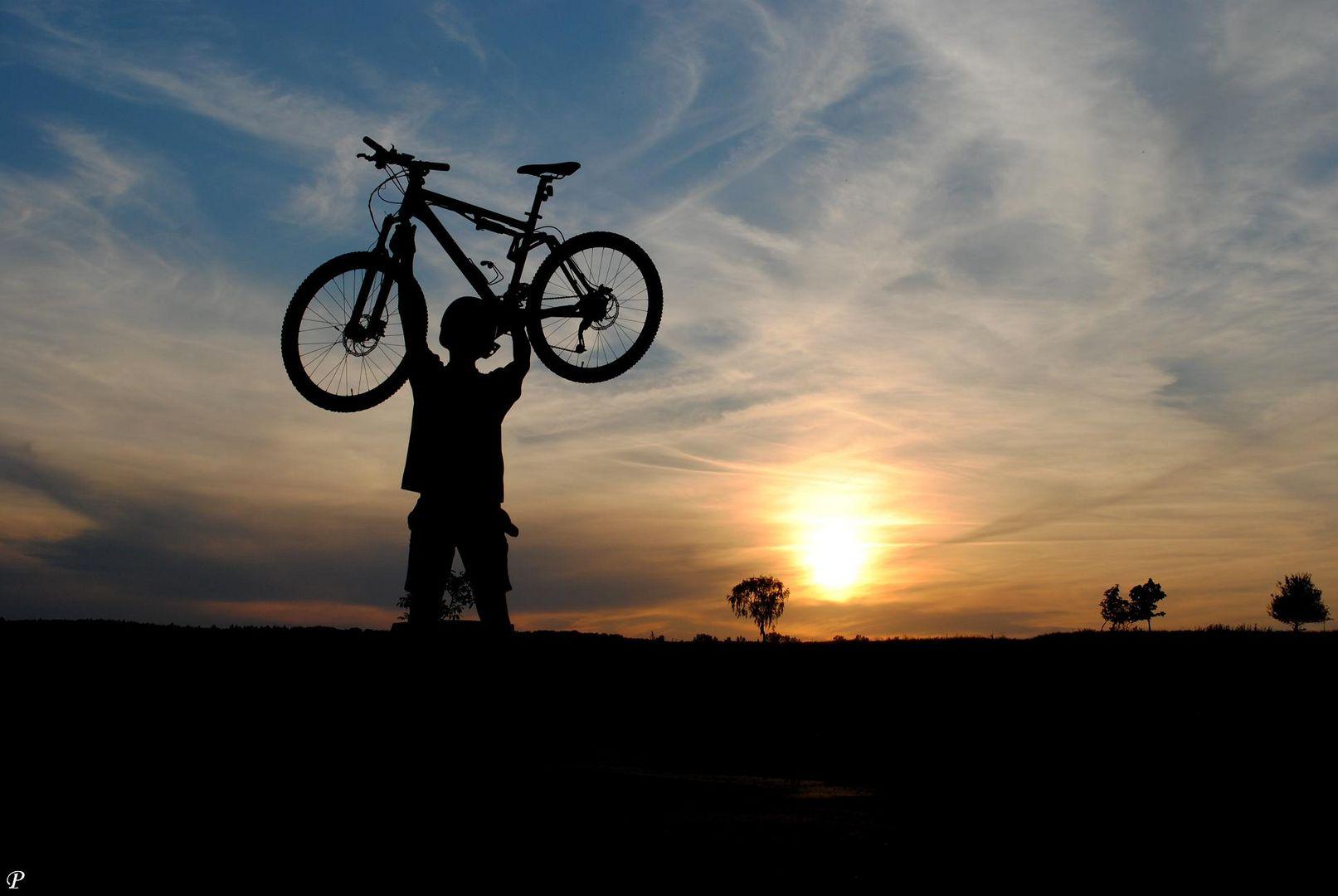 Wer sein Fahrrad liebt, der trägt und schiebt:)
