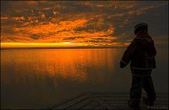 Wer sieht beim Untergang der Sonne nicht Geister auf den Wolken?