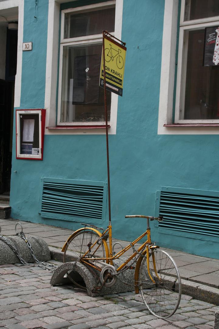 Werbung für eine Fahrradreparaturwerkstatt