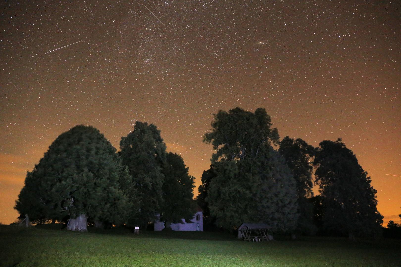 Werdigeshäuser Kirche am Abend des 18.08.2014
