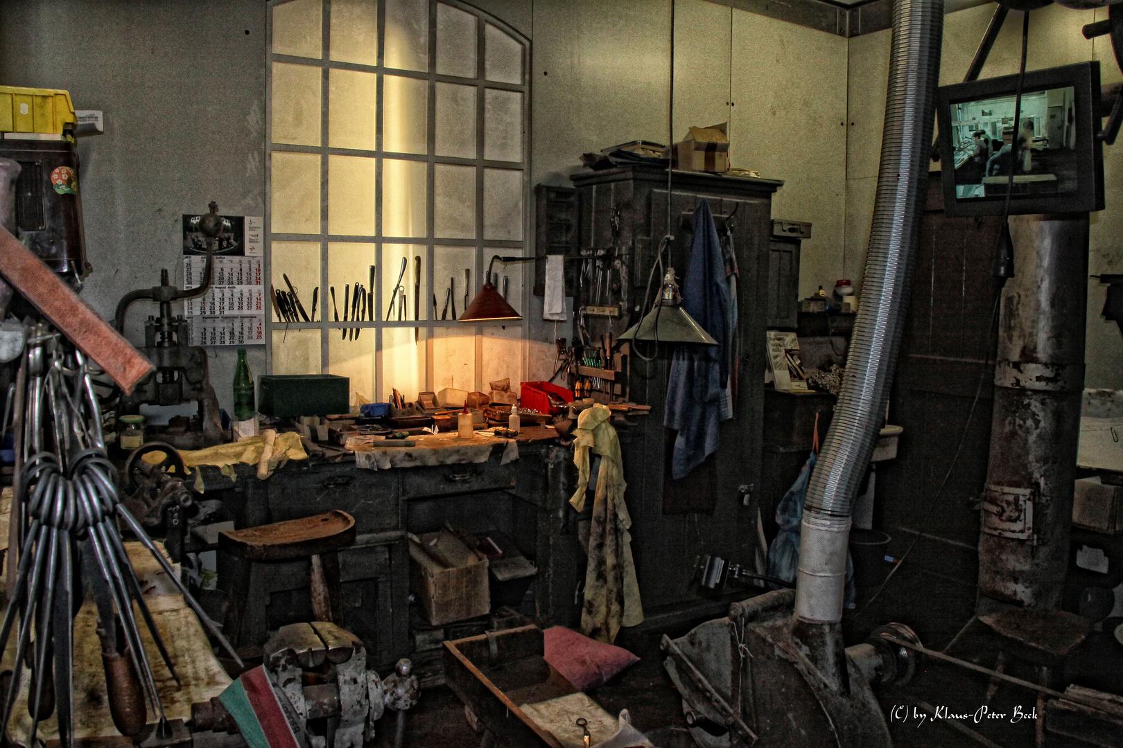 Werkstatt eines scherenschleifers