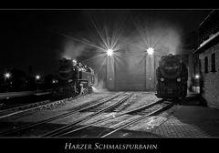 """Wernigerode """" Harzer Schmalspurbahn, bei Nacht...."""""""