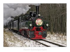 """Wernigerode """" Harzer Schmalspurbahn, ..... der Nikolauszug...."""""""
