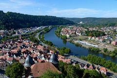 Wertheim Blick von der Burg mainabwärts