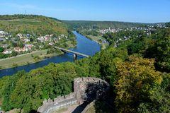 Wertheim Blick von der Burg mainaufwärts