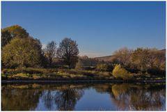 Weser - Herbst - Spiegelungen