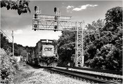 Westbound CSX Freight Train at Sandy Hook