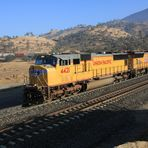 Westbound UP#4421 leading a Freight Double Container Train to Bakersfield..