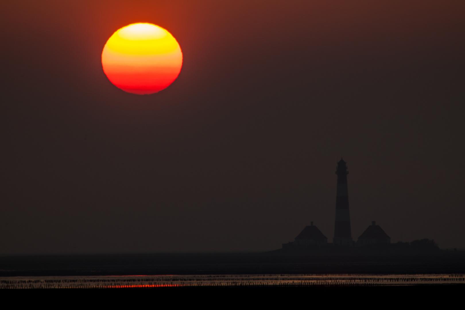 Westerhever Leuchtturm zum Sunset