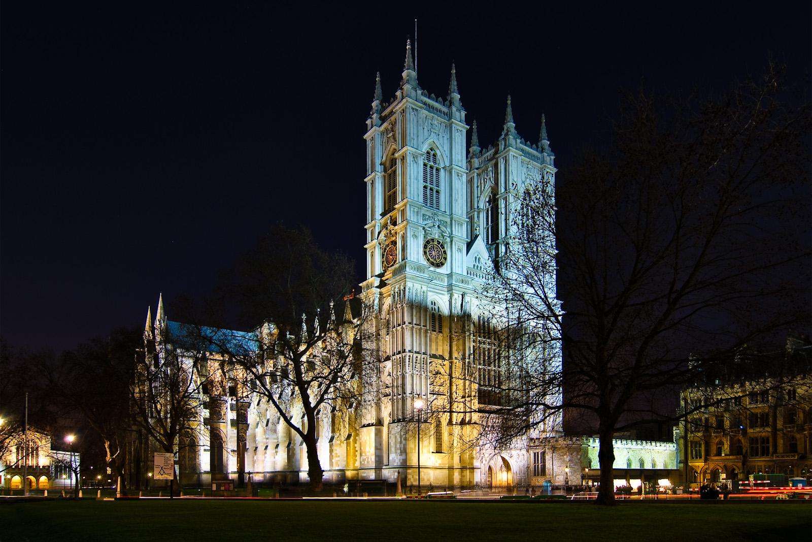 Westminster Abbey gestern abend