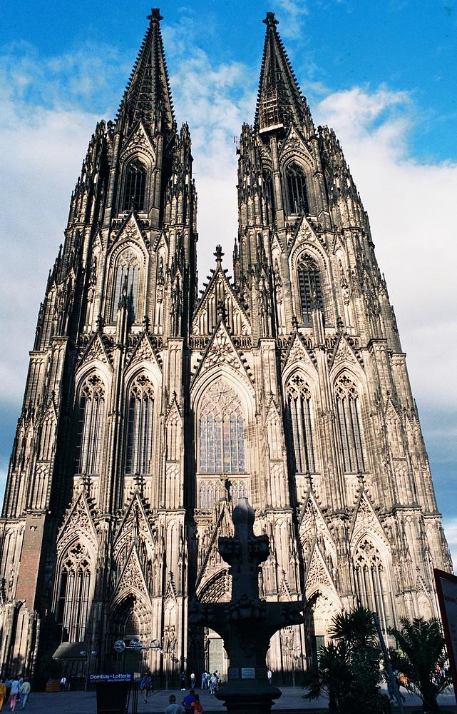 westseite kölner dom bei tag foto & bild   deutschland