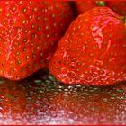 Wet strawberries