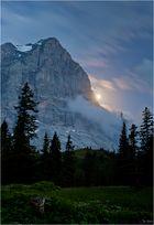 Wetterhorn im Mondlicht