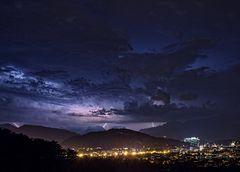 Wetterleuchten über Salzburg