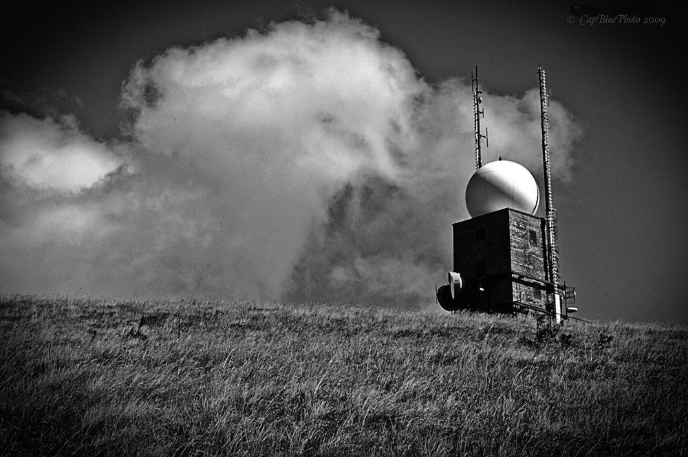Wetterradaranlage im Friedrich-Luise-Turm