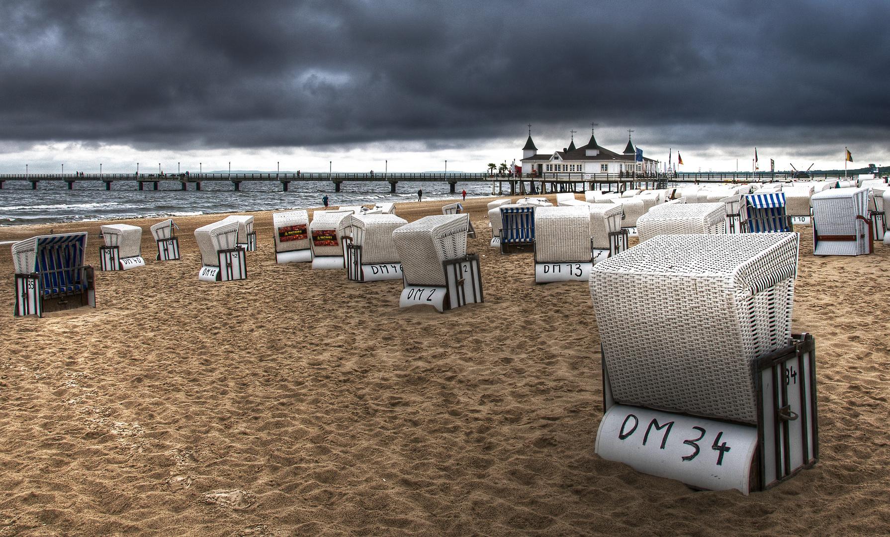 Wetterumschwung am Ostseestrand