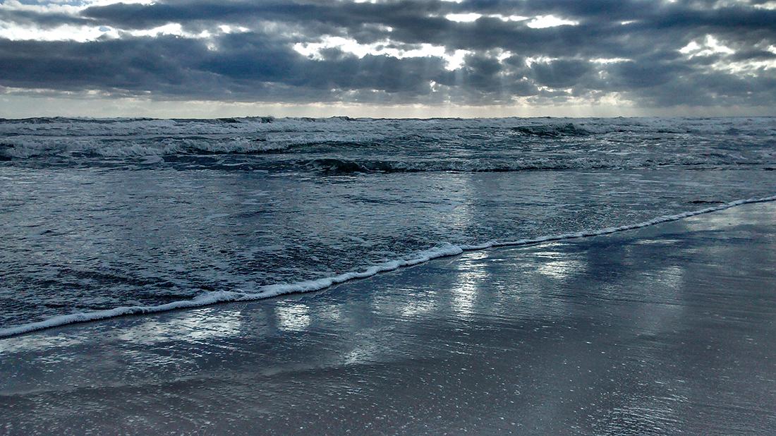 Wetterumschwung am Strand