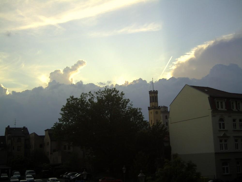 Wetterwechsel über Zittau