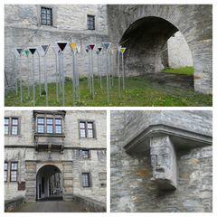 Wewelsburg Kunstwerk im Burggraben als Erinnerung an Meschen die im KZ Niederhagen inhaftiert waren