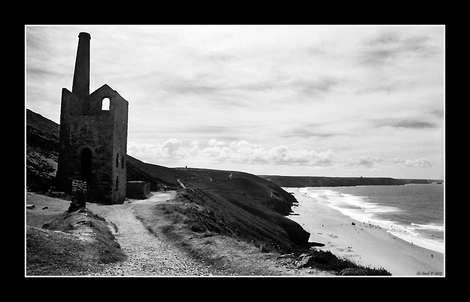Wheal Coates Reworked in B&W
