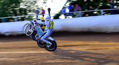 Wheelie beim Speedway mit Timo Lahti