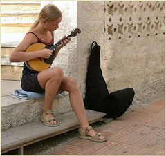 When a young lady loves music!