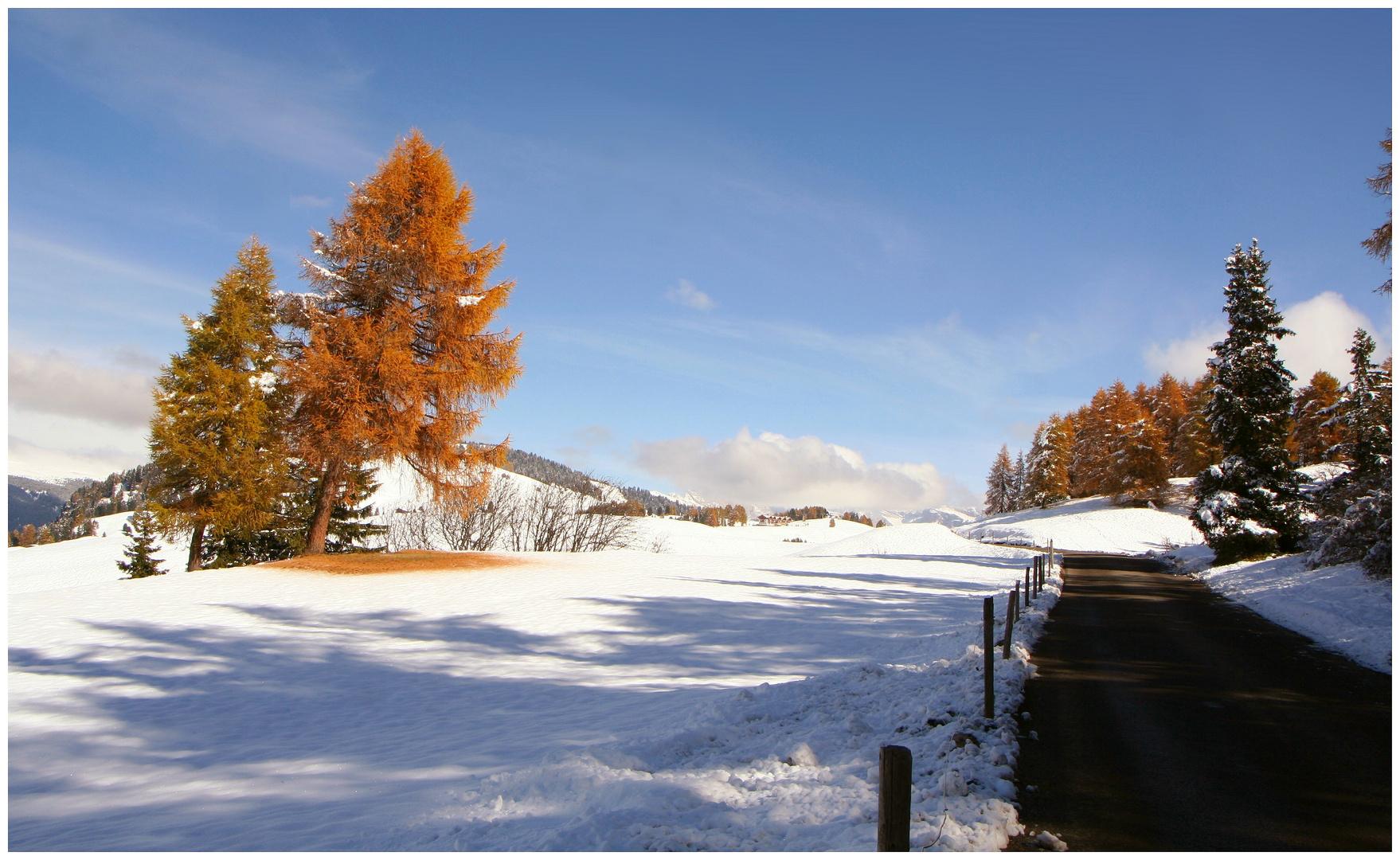 When autumn meets winter...