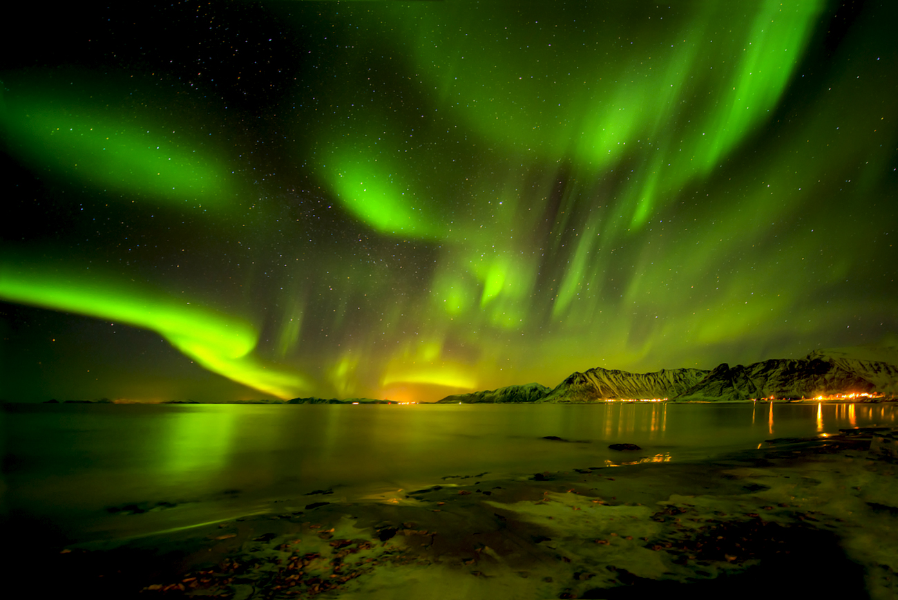 when the northern lights are dancing . . .