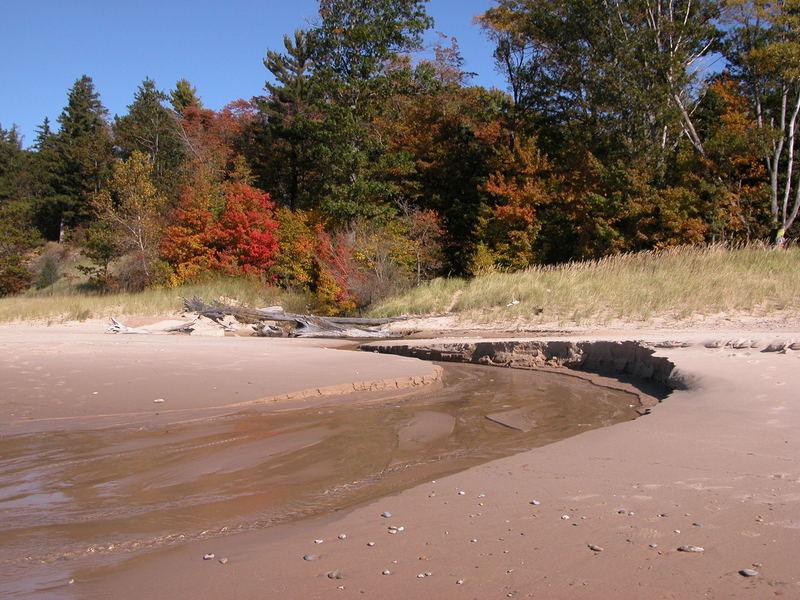 Where stream meets beach