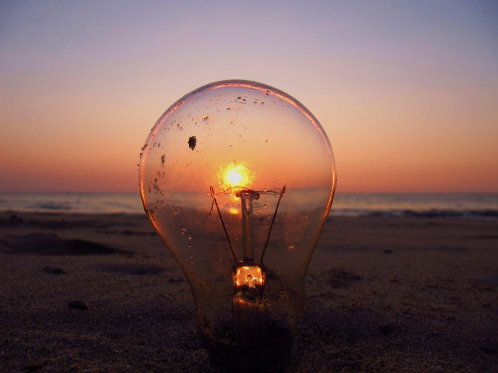 while the bulb is sinking