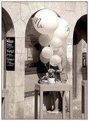 White ballons