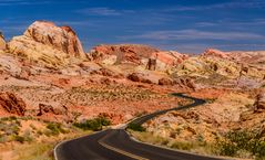White Domes Scenic Byway, Valley of Fire, Nevada, USA
