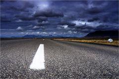 White line...