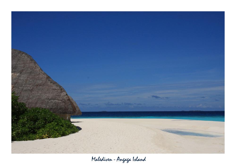 White sand beach...