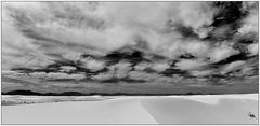 White Sands on a cloudy day