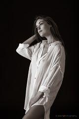 white shirt - bw