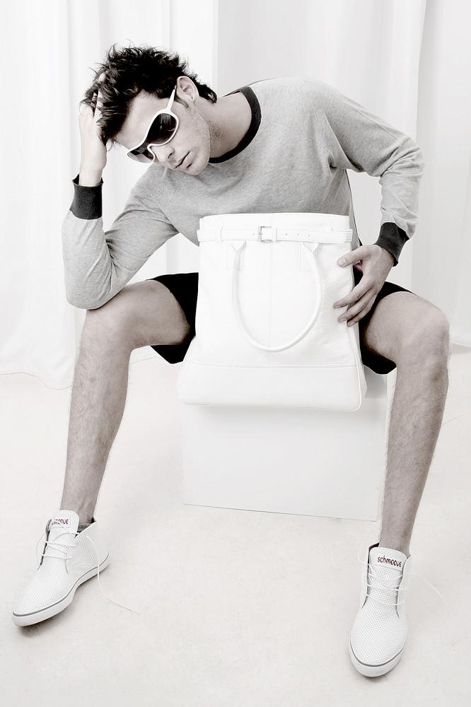 White shoes,white bag,white...