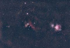 Widefield-Aufnahme im Sternbild Orion